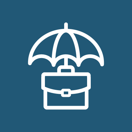 Commercial Umbrella icon - umbrella with brief case